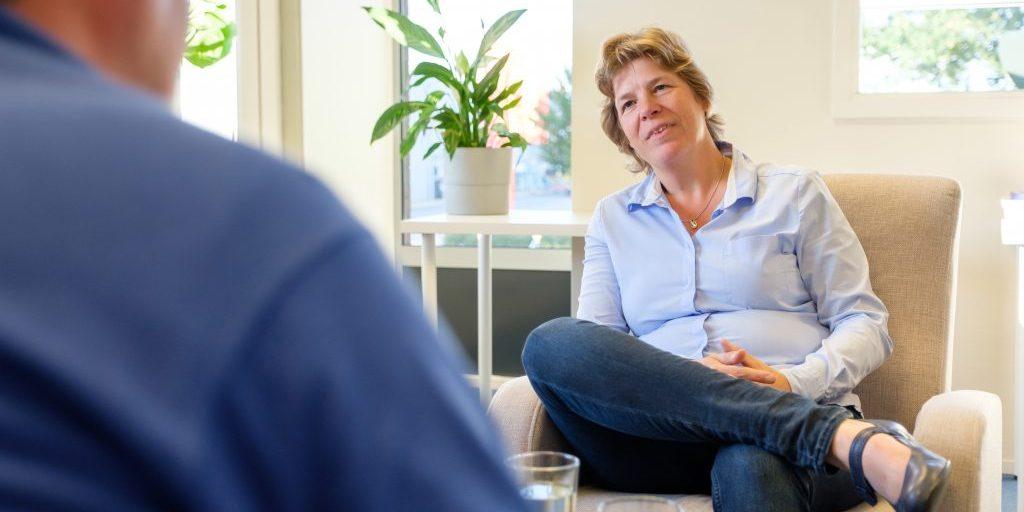 Coach Evelien Wieringa in gesprek